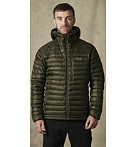 Rab Microlight Alpine - giacca in piuma con cappuccio - uomo, Green