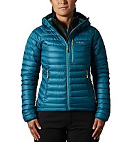 Rab Microlight Alpine - giacca in piuma con cappuccio - donna, Green