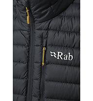 Rab Microlight - wattierte Weste - Herren, Dark Grey/Yellow