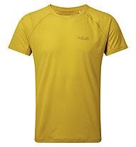 Rab Pulse SS - maglietta tecnica - uomo, Yellow