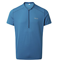 Rab Sonic SS Zip - T-shirt tecnica - uomo, Blue