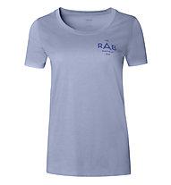 Rab Stance Geo SS - T-shirt - donna, Light Blue