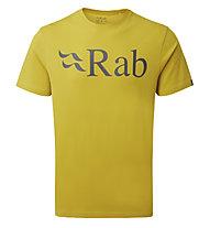 Rab Stance Logo Tee - T-Shirt - Herren, Yellow