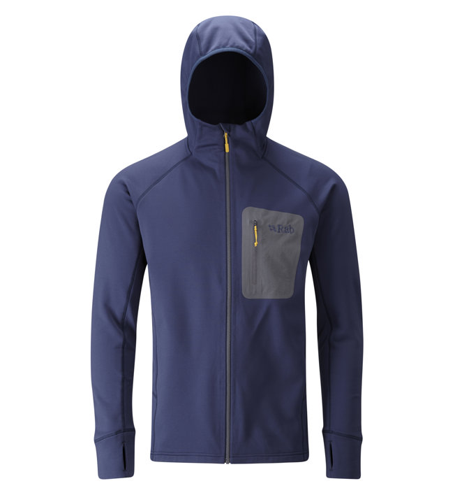 Rab Superflux - Fleecejacke mit Kapuze - Herren, Dark Blue
