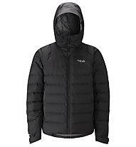 Rab Valiance - giacca in piuma con cappuccio - uomo, Black