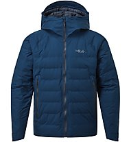 Rab Valiance - giacca in piuma con cappuccio - uomo, Blue