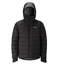 Rab Valiance - giacca in piuma con cappuccio - uomo, Black/Black