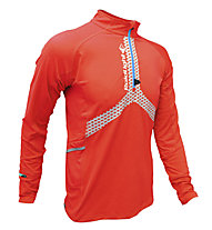 RaidLight Maillot Performer ML Maglia a maniche lunghe trailrunning, Piment