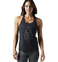 Reebok Activechill Graphic - Top - Damen, Black