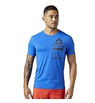 Reebok ActiveChill Zoned Graphic - Trainingsshirt - Herren, Light Blue