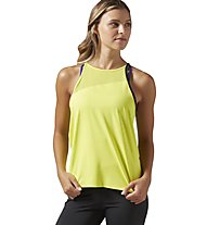 Reebok Cardio Slim Tank Top Fitness Donna, Yellow