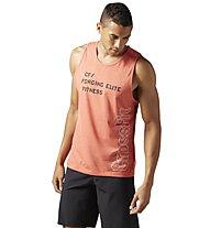 Reebok CrossFit Burnout - Top fitness - uomo, Orange
