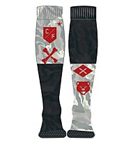 Reebok Crossfit Mens Printed Knee Socks Calzini lunghi fitness, Coal Grey