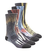 Reebok Printed Crossfit Socken Pack 4, Black/Multicolour