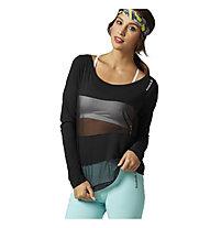 Reebok D Coverup T-Shirt Damen, Black