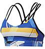 Reebok Hero Strappy Padded Bra - Sport BH mittlerer Halt - Damen, Blue/Yellow/White
