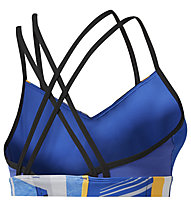 Reebok Hero Strappy Padded Bra - Sport BH mittlerer Halt - Damen, Blue/Yellow/White