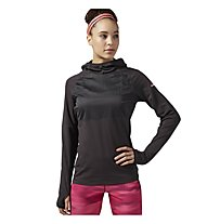 Reebok One Series Speedwick Water Resistant Hoodie Felpa con cappuccio fitness donna, Coal Anthracite