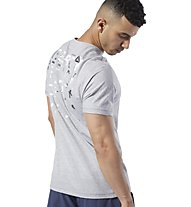 Reebok One Series Training Speedwick Graphic - T-shirt fitness - uomo, Light Grey