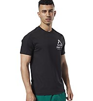 Reebok One Series Training Speedwick Graphic - T-shirt fitness - uomo, Black