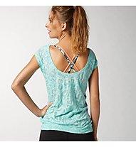 Reebok OS Burnout T-Shirt Damen, Crystal Blue