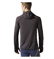 Reebok One Series Water Repellent Speedwick Hoodie Training Sweatshirt, Coal Grey