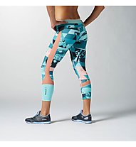 Reebok OS Elite leggings 7/8 donna - Pantaloni Fitness, Crystal Blue