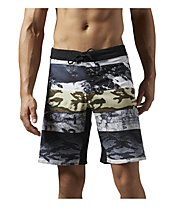 Reebok One Series Winter Camo Sublimated Shorts, Coal Allover Print