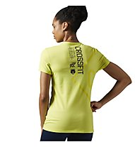Reebok CrossFit Performance Blend Graphic T-Shirt Damen, Yellow