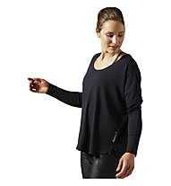Reebok Studio Lux Wool Blend Cover Up pullover Donna, Black