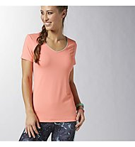 Reebok SE PD V-Neck T-shirt donna, Coral