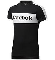 Reebok TE Linear Logo SS Graphic - T-Shirt - Herren, Black
