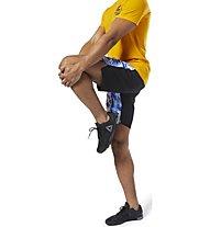 Reebok WOR Moonshift Board Short - Trainingshose kurz - Herren, Light Blue/Yellow/White