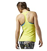 Reebok Workout Ready Tank Top fitness donna, Yellow