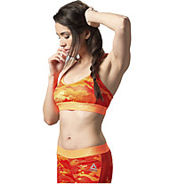 Reebok Workout Ready Skinny - reggiseno sportivo, Light Orange