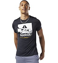 Reebok Workout Ready ActiveChill Graphic - T-shirt fitness - uomo, Black