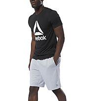 Reebok Workout Ready Knit Performance - pantaloni corti fitness - uomo, Light Grey