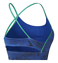 Reebok Workout Ready MYT Low-Impact - reggiseno fitness supporto leggero - donna, Blue/Green