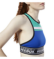 Reebok Workout Ready MYT Bralette - Sport BH leichter Halt - Damen, Blue/Green/Black