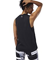 Reebok Workout Ready MYT Muscle - top fitness - donna, Black/White