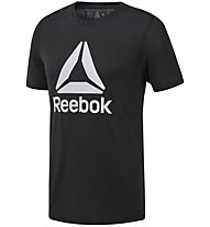 Reebok Workout Ready Supremium Graphic - T-shirt fitness - uomo, Black/White