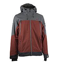 Rehall Jaxon-R - giacca sci freeride e snowboard - uomo, Dark Red/Dark Grey