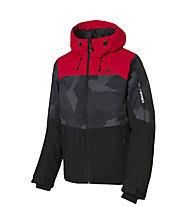 Rehall Jaxon - Snowboardjacke mit Kapuze - Kinder, Black/Red
