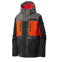 Rehall Hampton-R  - giacca da sci e snowboard - bambino, Black/Red