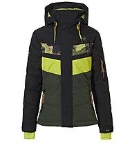 Rehall Karina - Skijacke - Mädchen, Black/Yellow
