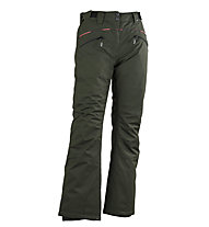 Rehall Lottie-R - pantaloni sci freeride e snowboard - donna, Dark Green