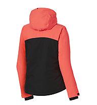 Rehall Maggy - Snowboardjacke mit Kapuze - Mädchen, Black/Red