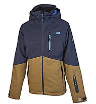 Rehall Noah-R - giacca snowboard - bambino, Brown/Black