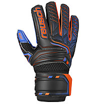 Reusch Attrakt S1 Junior - guanti portiere calcio - bambino, Black/Orange