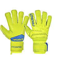 Reusch Fit Control S1 Evolution - guanti portiere calcio, Lime/Blue